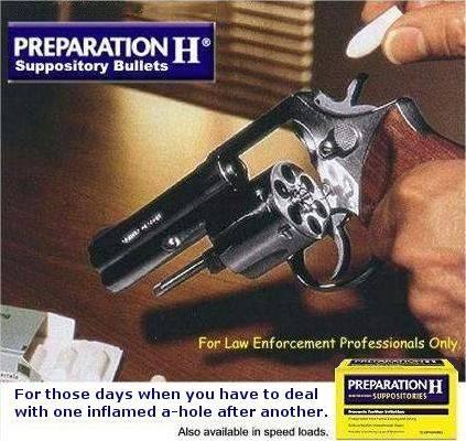 Preperation H bullets